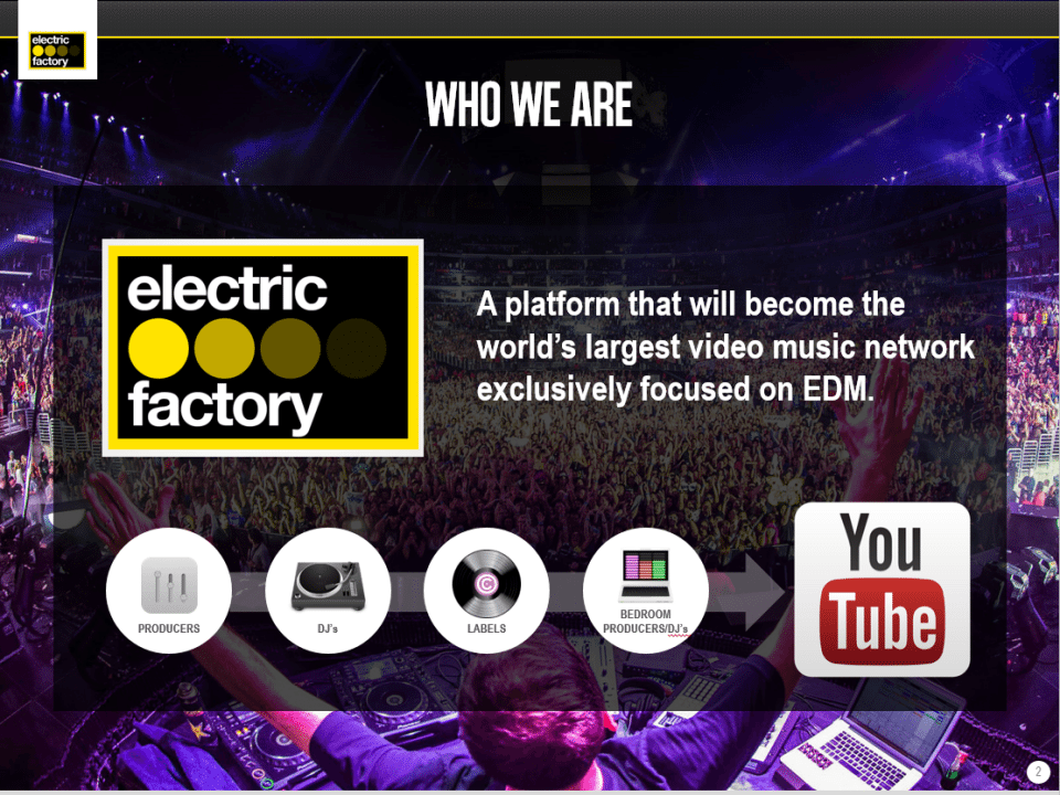 PowerPoint Design Example for Electric Factory