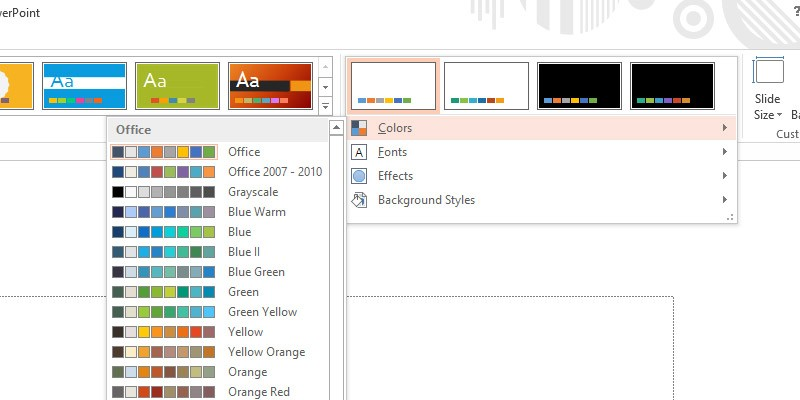 how to change powerpoint color scheme