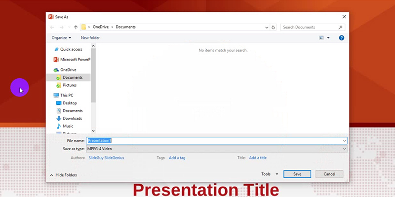 PowerPoint 2013 Video Tutorial: save as