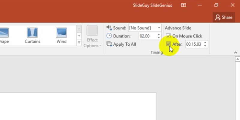 rehearse timings in PowerPoint 2013: timing