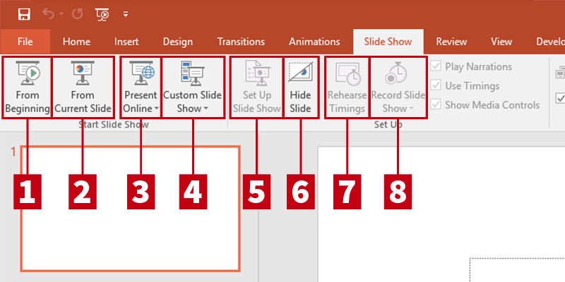 Customize View Panes in PowerPoint 2013: Slide Show Tab Additional View
